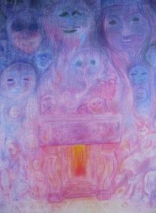 Dans la maison (les anciens), 36 x 26 cm, 2015