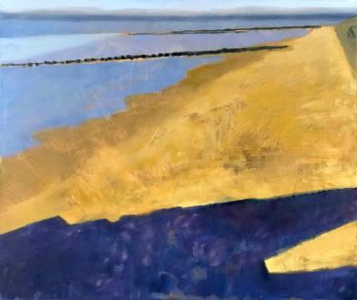 Guy de Malherbe, 2016, Vers la mer (Trouville), huile sur toile, 54x65cm