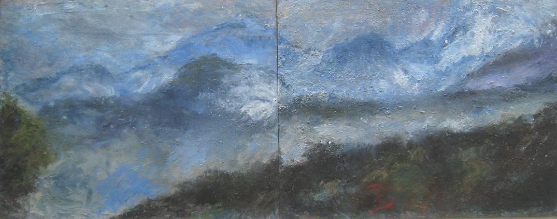 BBRT13_Dyptique alpin_huile sur toile_324 x 130 cm_2013