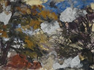 trois études, Tempera et collages, 29 x 39 cm, 2018
