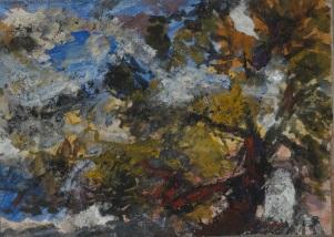 Trois études, tempera sur toile marouflée, 29 x 39 cm, 2018