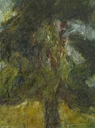 Arbre traversé par la lumière et l'espace, 130 x 96 cm, huile et terre sur toile, 2009