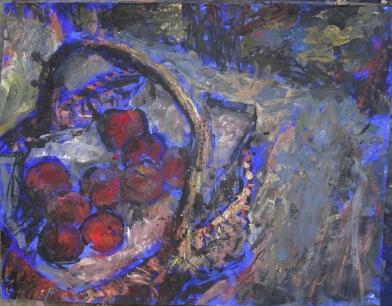 Panier de Pêche, 50 x 65 cm, tempéra, 2019