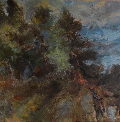 Tendres verts, 130 x 130 cm, huile sur toile